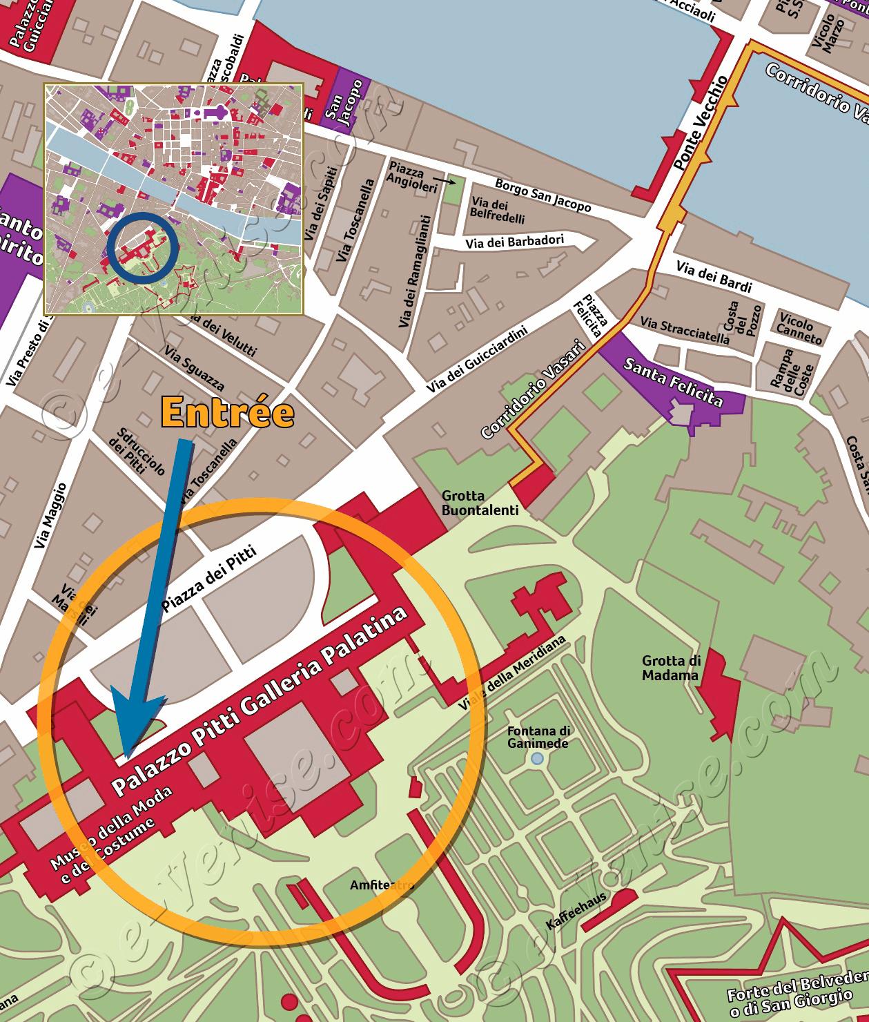 Plan De Situation Du Jardin Boboli A Florence