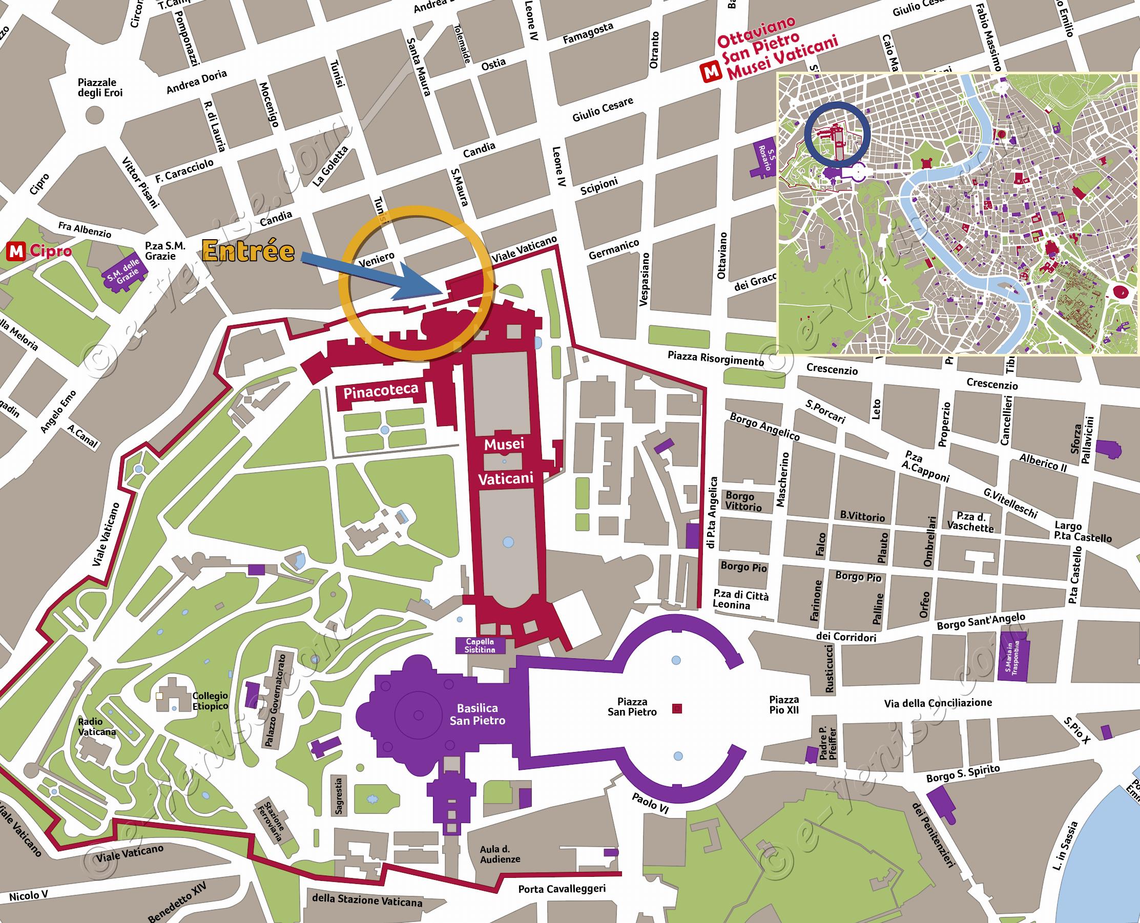 Carte du vatican