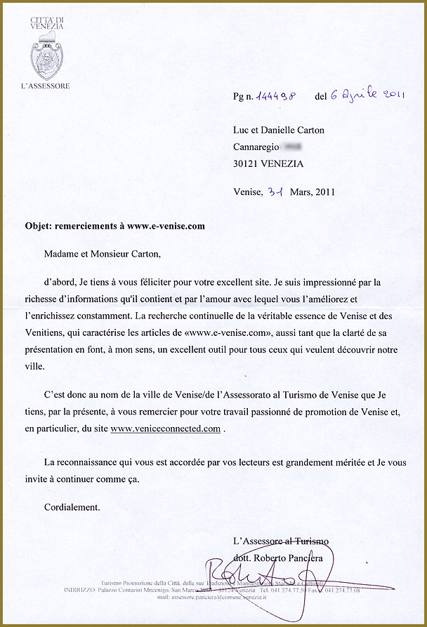 Exemple De Lettre De Remerciement Officiel | Covering Letter Example